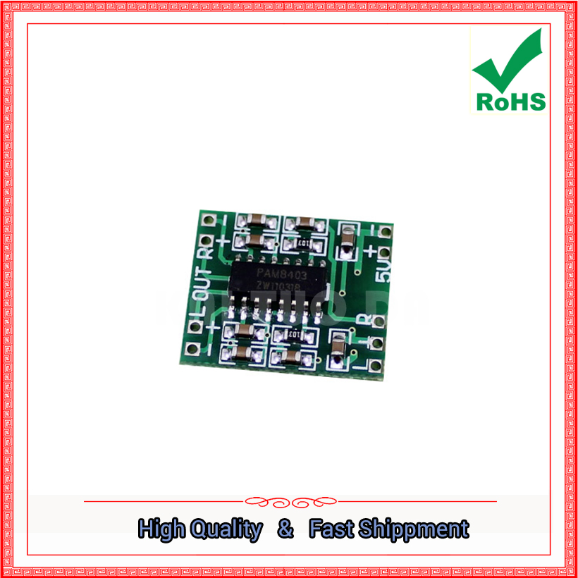 ultra-mini digital <font><b>amplifier</b></font> board 2 * 3W Class D PAM8403 <font><b>amplifier</b></font> <font><b>module</b></font> efficient 2.<font><b>5v</b></font> ~ <font><b>5V</b></font> 2*3w (H6A3) image