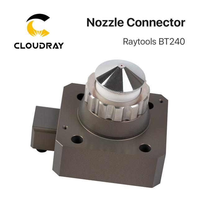 US $220 0  Raytools Fiber Laser Cutting Head BT240 BT240S Nozzle Connection  Part for Fiber Metal Cutting Machine -in Welding Nozzles from Tools on