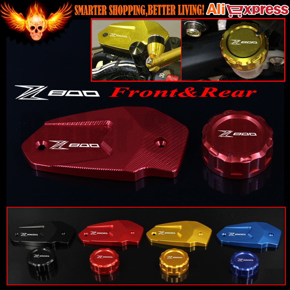For KAWASAKI Z800/E version 2012 2013 2014 2015 2016 CNC Motorcycle Rear and Front Brake Reservoir Cover Cap