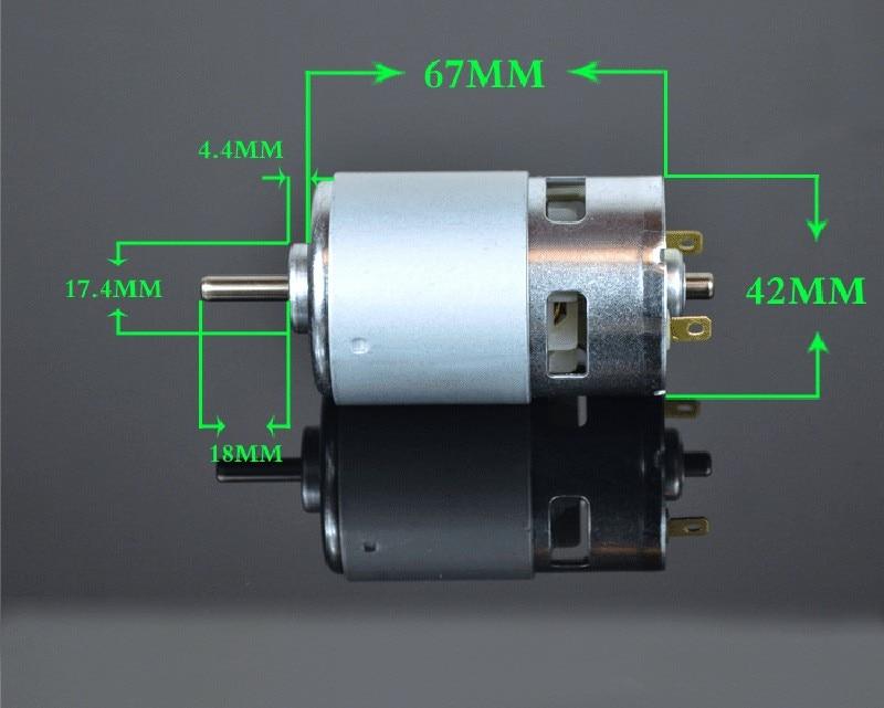 FitSain - silnik 775 ze wspornikiem Wał 24 V DC 8000 obr./min 5 mm - Akcesoria do elektronarzędzi - Zdjęcie 6