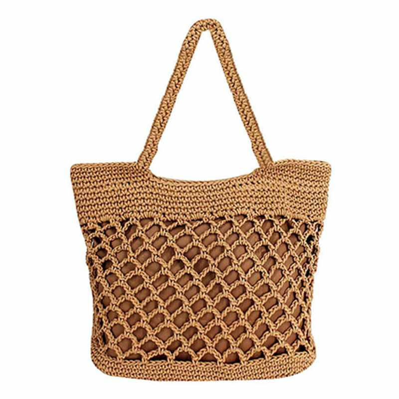 Handbag Women Fashion Woven Straw Bag Summer Large Beach Tote Bag Travel Shopper Shoulder Bags