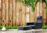 עץ בציר ירוק גפן תמונה מותאמת אישית סטריאוסקופית 3D טפט קיר רקע טלוויזיה בסלון טפט