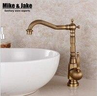Fashion bronze faucet antique kitchen mixer basin mixer vintage sink faucet tap vegetables basin sink mixer MJFG8881