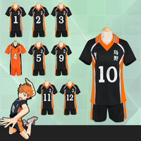 Haikyuu Cosplay Costume Karasuno High School Volleyball Club Hinata Shyouyou Sport Swear Jerseys Uniform Tops Shorts