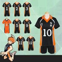 Haikyuu Cosplay Costume Karasuno High School Volleyball Club Hinata Shyouyou Sport Swear Jerseys Uniform Tops Shorts