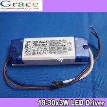 18 30x3W LED Driver Power Supply 600mA 85 277 v עבור 18 יחידות 30 יחידות 3 W מתח גבוה שבב LED