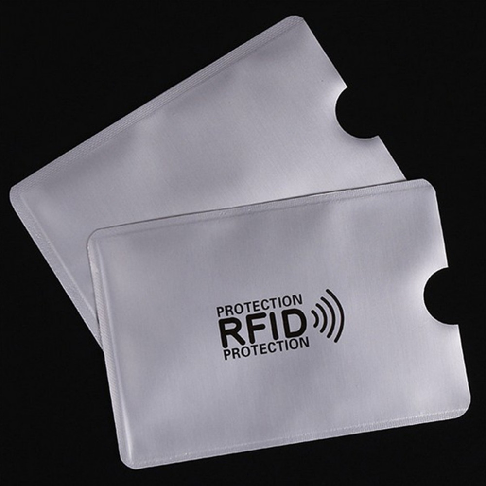 OWGYML 10pcs/set RFID Shielded Sleeve Card Blocking 13.56mhz IC card Protection NFC security card prevent unauthorized scanning(China)