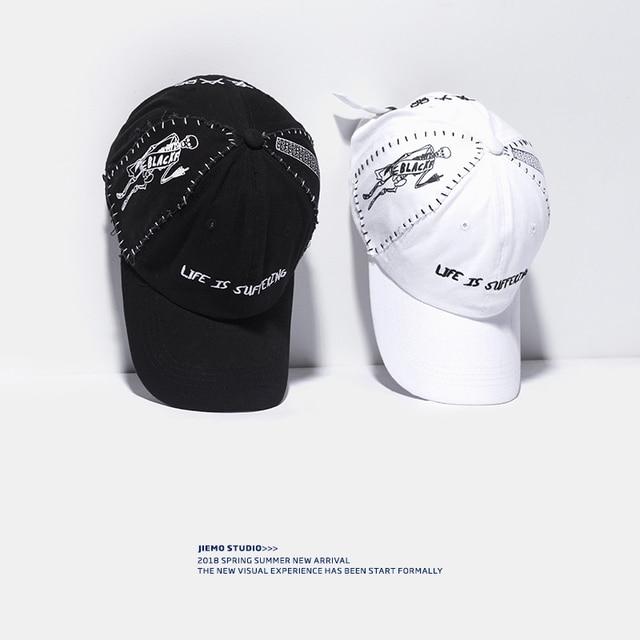 d8a0ff0ca8 SODA WATER Designer Hat Hand Print Baseball Caps Summer Letter Men s Caps  Hip hop Casual Unisex