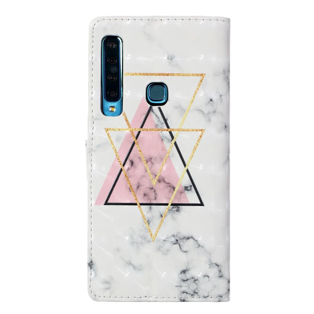 For Samsung Galaxy A3 A5 2017 A6 A7 A8 2018 Plus Fashion Style Colorful Marble Wallet Leather Case Flip Stand Mobile Phone Bag in Wallet Cases from Cellphones Telecommunications