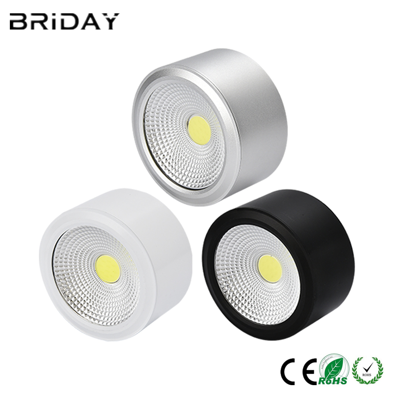 Surface Mounted LED Downlights 6W 10W 14W 20W Dimmable LED Downlight COB Dimmable 110V 220V Spot Light Warm Light/Neutral White