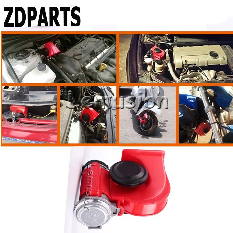 ZDPARTS For Lada Granta Vesta Kalina Seat Leon Volvo V70 S60 Xc90 Mini Cooper Car Automobiles 12V 130db Two-Tone Snail Air Horn дефлекторы окон skyline lada granta 11 4 шт