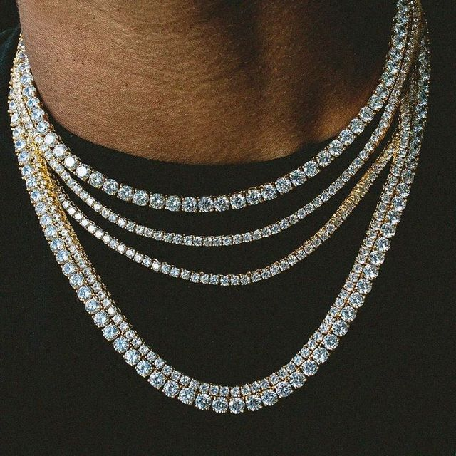 Image result for Mens jewelry tennis chain
