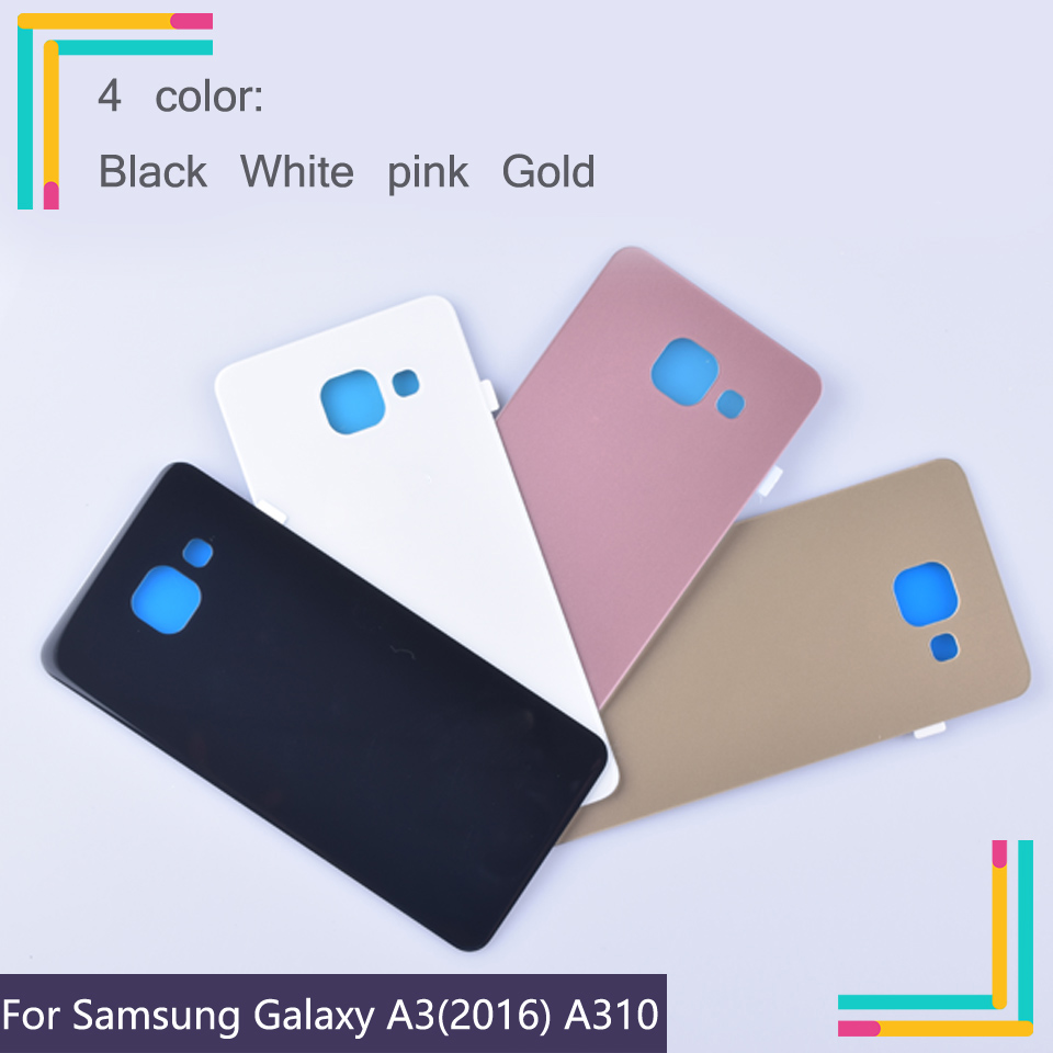 10Pcs/lot For Samsung Galaxy A3 2016 A310 A310F A3100 Housing Battery Cover Back Cover Case Rear Door Chassis A3 2016 Shell