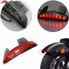 купить Red/Smoke Chopped Fender Edge Motorcycle 8 LED RED Stop Running Brake Rear Tail Light for Harley Sportster XL 883N 1200N XL1200V в интернет-магазине
