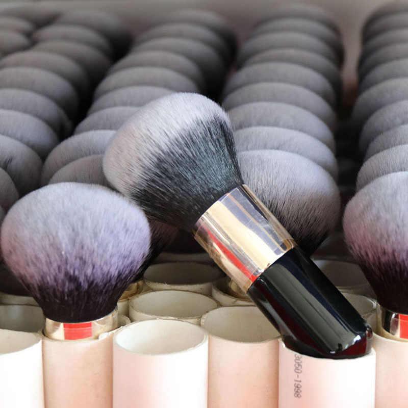 לי Clovor 1PC אבקת מברשת שחור לבן קרן מברשת רך פנים יופי כלי Pincel Maquiagem איפור מברשת