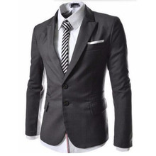 Zwei korn der wölbung herrenanzug jacke hohe qualität formale occasio business leisure suit jacke revers einfachen stil mode jacke