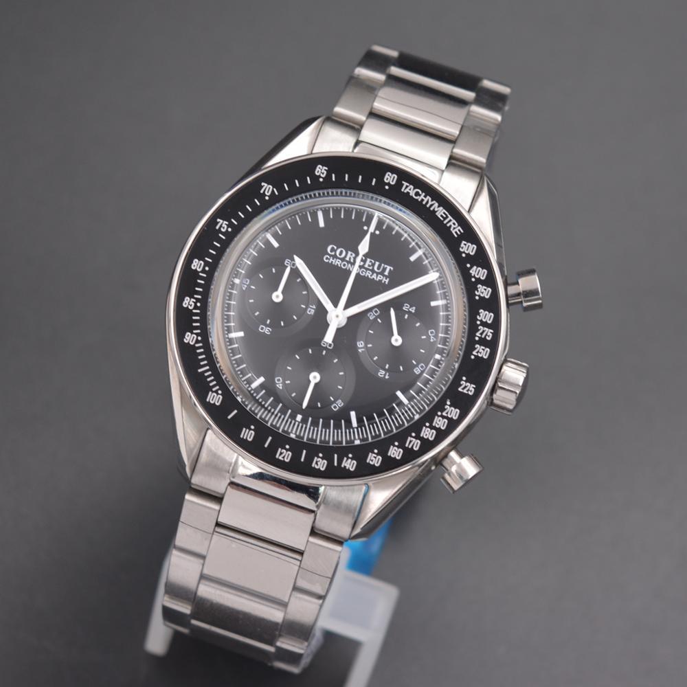 Corgeut montre hommes mode Sport multifonction Quartz horloge hommes montres Top marque de luxe 24 heures complet chronographe montre-bracelet
