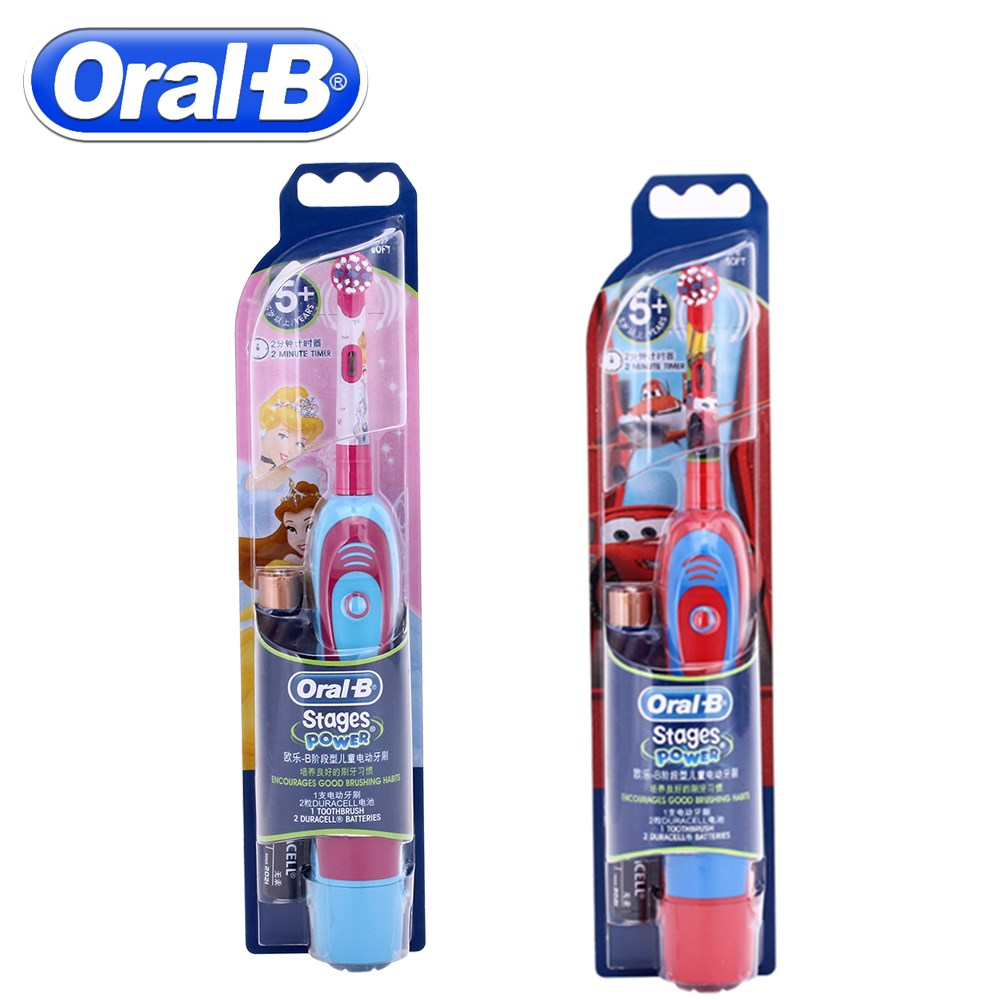 Oral B Children Electric Toothbrush Oral Care Soft Bristle Kids Stages Power Vitality Disney Cars Tooth brush Battery Oprated