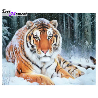 Diamond embroidery snow tiger 40x30 Diy diamond square drill rhinestone pasted Crafts Needlework home decoration ASF317