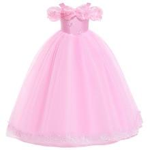 2019 New Baby Girls Pink Dress Princess Girl Wedding Party Gowns Children Birthday Evening Dresses Vestidos Infantil Menina