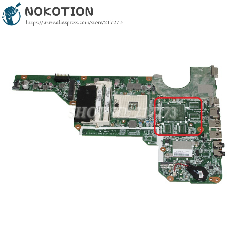 NOKOTION DA0R33MB6E0 680568-001 Laptop Motherboard For HP Pavilion G4 G6 G7-2000 G6-2000 G4-2000 Main Board 657146 001 main board for hp pavilion g6 laptop motherboard ddr3 with e450 cpu