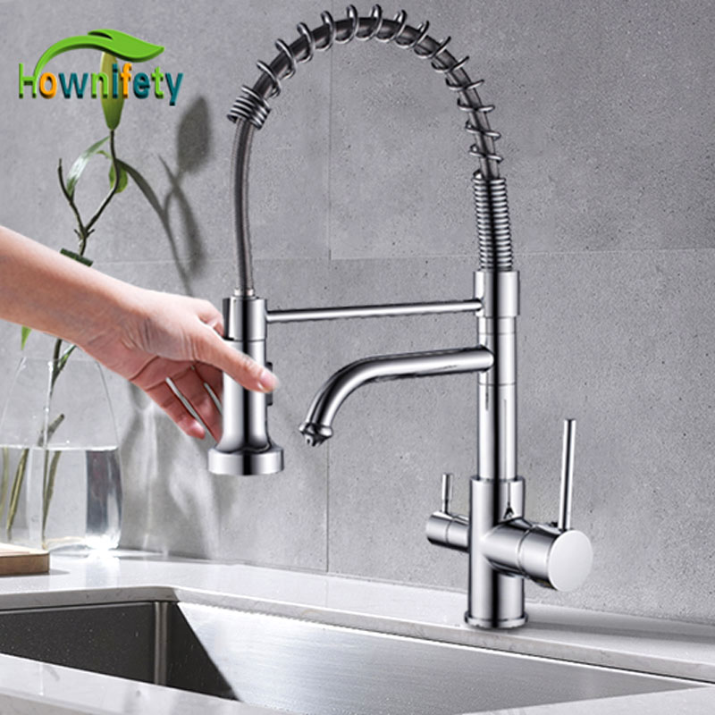 360 Swivel Kitchen Faucets Antique Brass Mixer Tap Bathroom Basin Mixer Hot Cold Tap Ceramic Plate