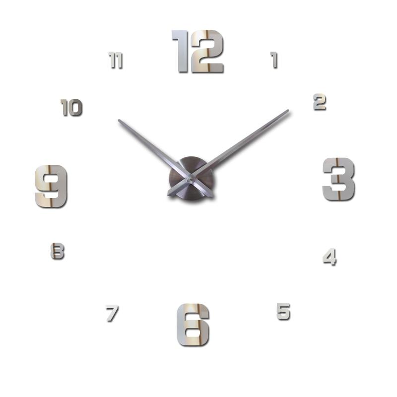 new sale home decor circular wall clock modern big 3d diy acrylic mirror quartz sticker clocks watch gift free shipping