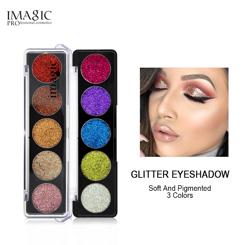 IMAGIC Presset Glitterinjektioner EyeShadow Rainbow EyeShadows Kosmetiske Make up Pressede Glitters Diamond Eyeshadows