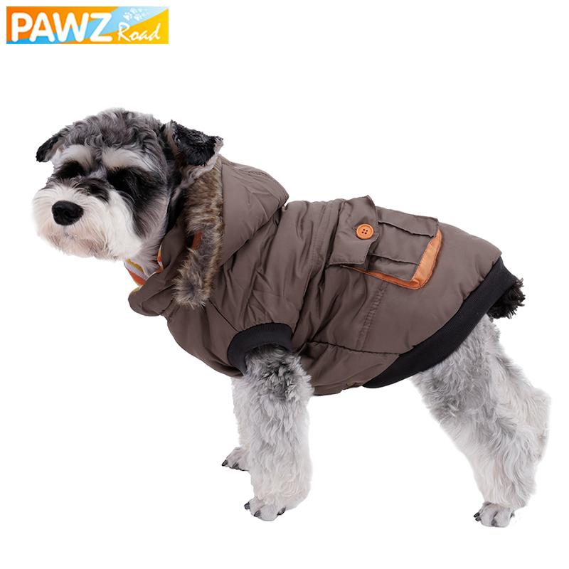საოჯახო ტანსაცმელი საბითუმო ზამთრის თბილი ძაღლის ბამბის მოსახსნელი ძაღლის ქუდებით დაფარული ქურთუკი ქვრივი ქურთუკი ნამდვილი ჯიბის მსხვილი ძაღლის ქურთუკებით