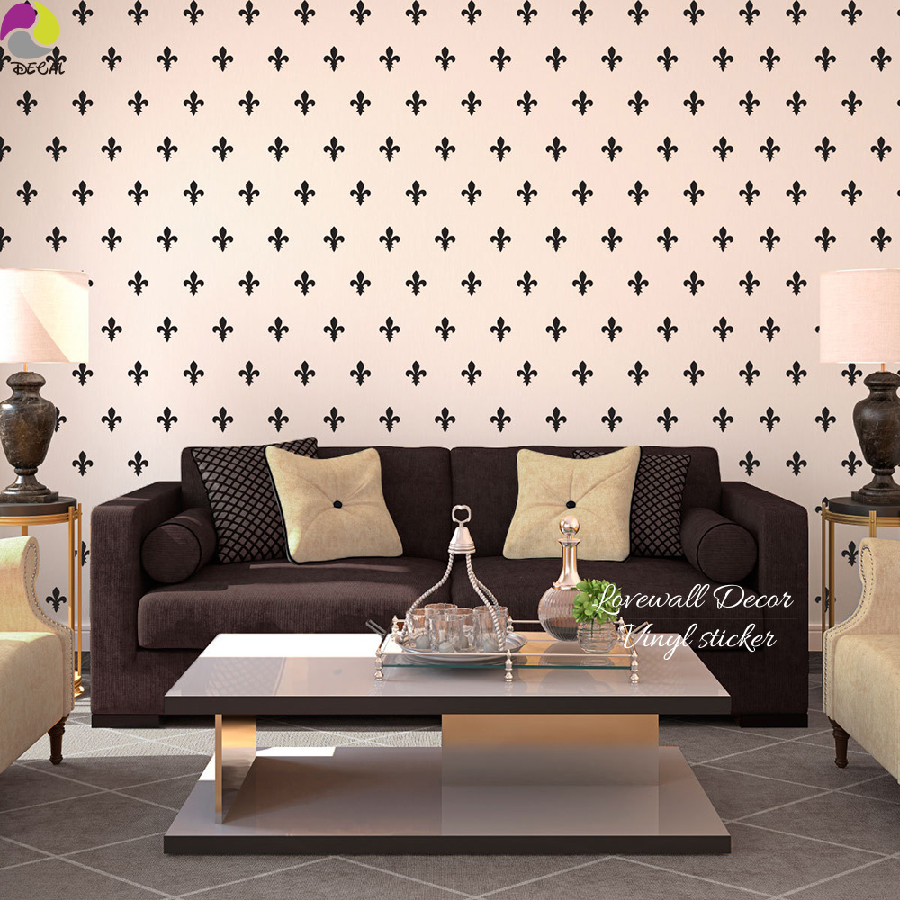 Fleur De Lis French Shabby Chic Flower Lily Wall Sticker Bedroom