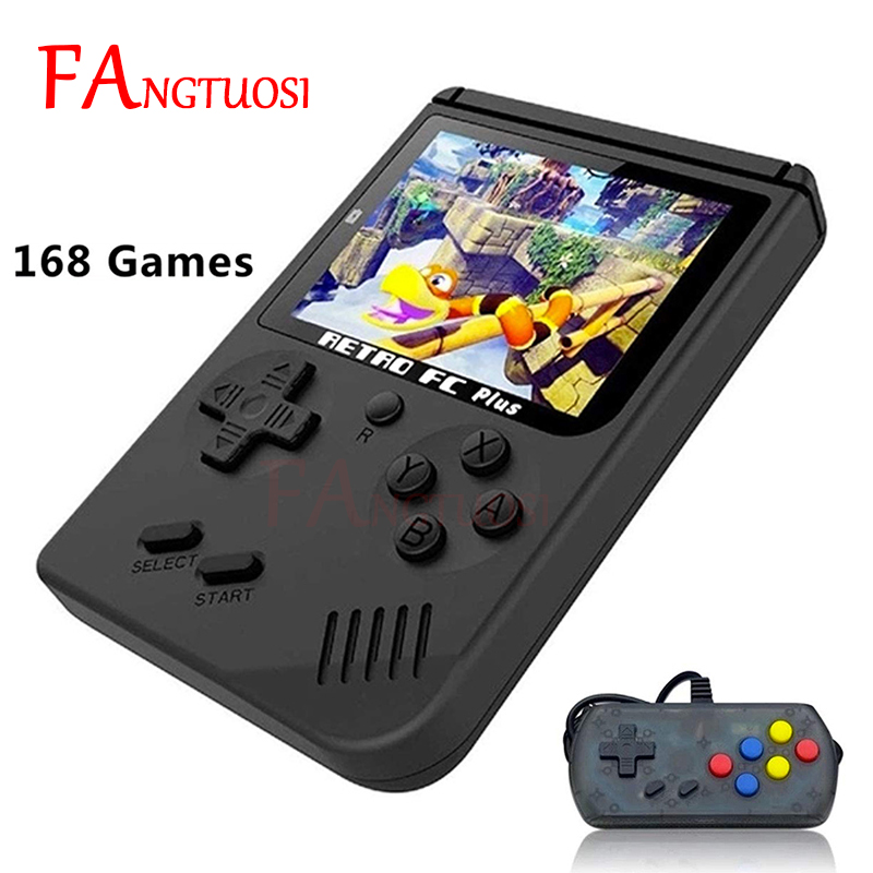 Mini Handheld Game Console 8 Bit Built-in 168 Games 3.0 Inch Color LCD Screen Game Player Best Gift For Child Nostalgic Player