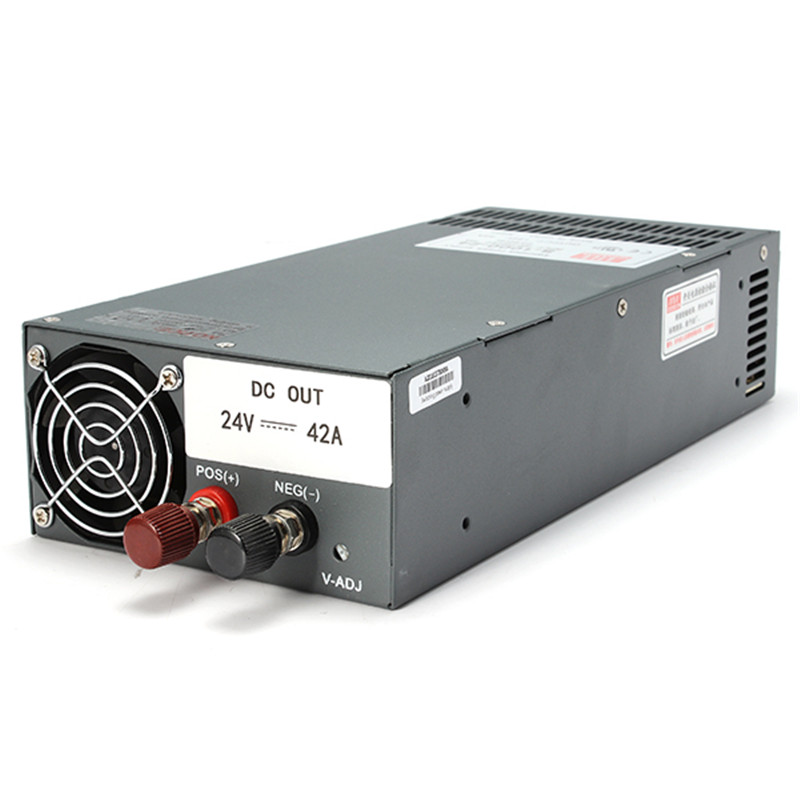 ФОТО mean well scn-1000-24 1000w 24v 40a single output ac to dc switching power supply for rc toys models