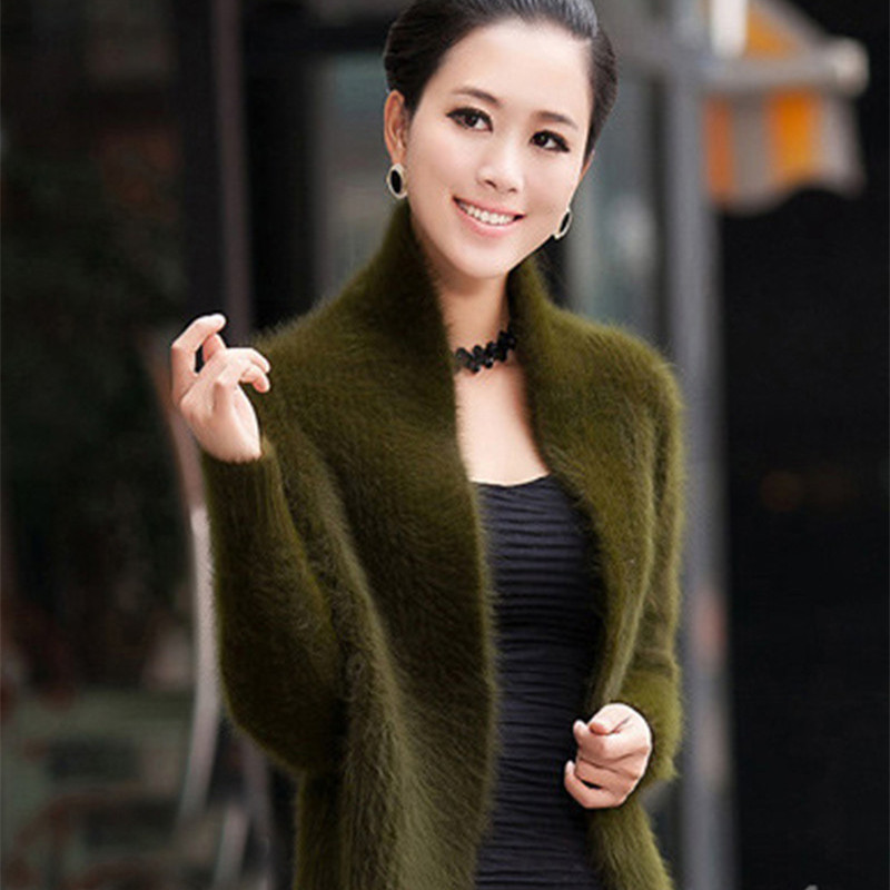 Mink cashmere Sweater Autumn Winter New arrival Real Water Fur Fashion Cardigan Shawl Thickened Short paragraph
