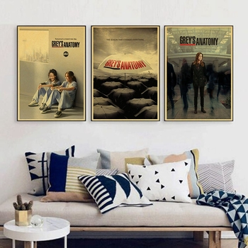 Greys Anatomy TV Show Wonderful retro Poster vintage Bedroom Decoration wall decal Чокер