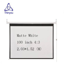 Thinyou 100 inch 4:3 with Wireless and wired remote control electric screen high contrast HD 3D motorized projector screen