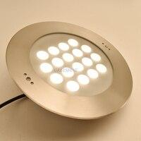 54W IP68 LED Pool Lamp RGB 316 Stainless Steel 24V Underwater LED Spot Light Fountain Light