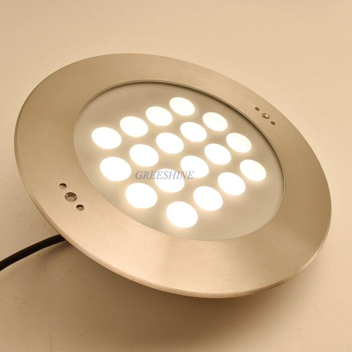 54 Вт IP68 Светодиодная лампа для бассейна RGB 316 Нержавеющаясталь 24 В подводный светодио дный Фонтан пятно света свет Цвет изменение Водонепро