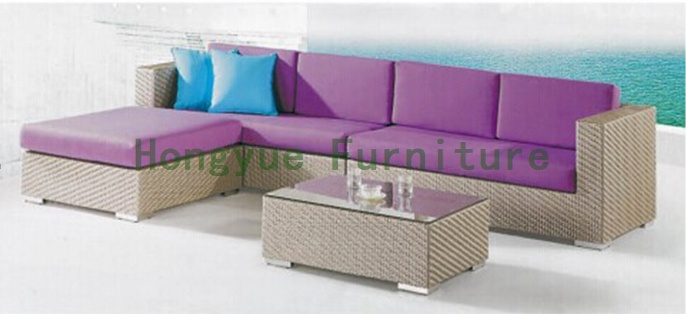 Rattan sectional sofa for living room direct factory 6 pcs half round rattan sofa set pastoralism home indoor outdoor rattan sofa for living room