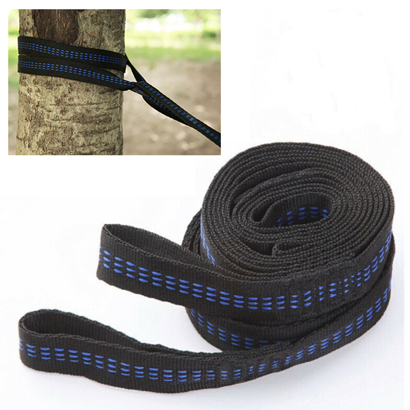 2 Pcs/set Hammock Straps 200cm Outdoor Adjustable Tree Hanging Aerial Yoga Hammock Straps Rope Belt Polypropylene