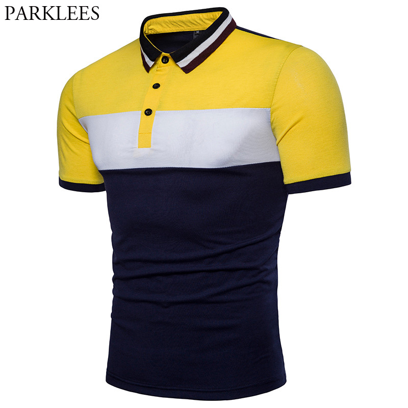 Fashion Hit Color   Polo   Shirt Men 2018 Brand New Short Sleeve   Polo   Shirts Mens Slim Fit Breathable Cotton   Polos   Para Hombre 3XL