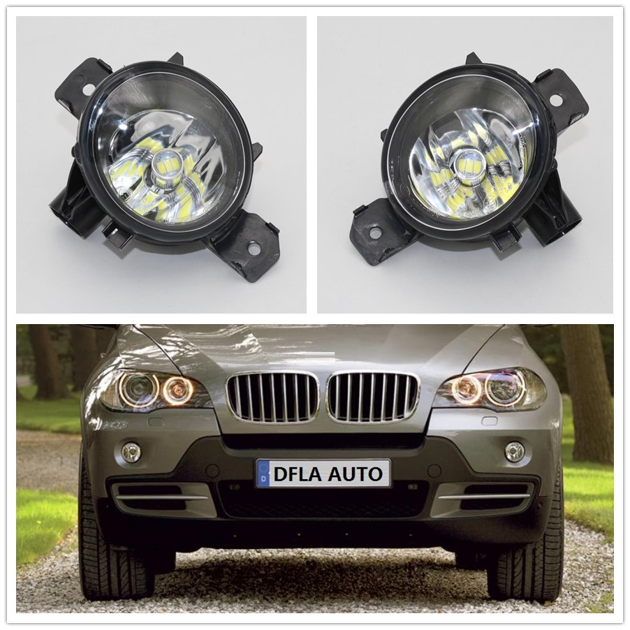 2pcs Car LED Light For BMW X5 E70 2006 2007 2008 2009 2010 2011 2012 2013 Car-styling Front LED Fog Light Fog Lamp free shipping ig770 ti700 avr du07 230v 50hz inverter generator module spare parts suit kipor kama automatic voltage regulator