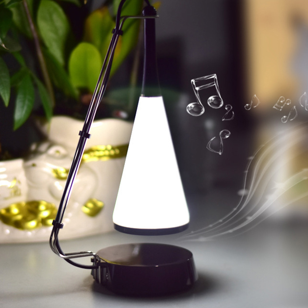 Novelty Wireless Bluetooth Speaker Desk Lamp USB Touch 5V LED Table Night Light Smart Music Stereo Speaker Table Emergency Light