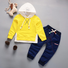 DIIMUU Hot Baby Boys Girls Kids Outfits Toddler Infant Children Cotton Sports Printing Casual Hoodies Spring Running Suits Sets