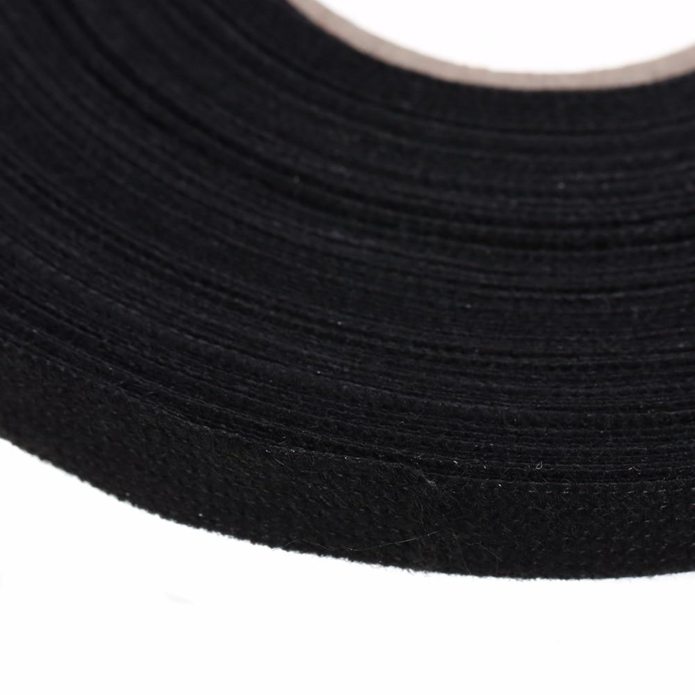 1pc Black Anti Wear Adhesive Cloth Fabric Tape Looms Wiring Harness Loom 25m X 9mm 03mm Xmas