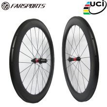 Tubeless Farsport FSC60-CM-23 DT240(36 Ratchets) high end 60mm carbon wheel with 23mm wide,700c bicycle clincher carbon wheel 60