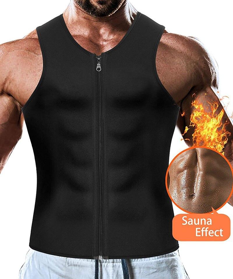 Sport Running Vest Slimming Reduction Shape Bodysuits Man T-Shirt Fitness Gym Sauna Muscular Development Weight Loss Fat Burning (10)
