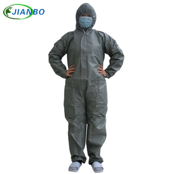 Disposable Protective Clothing Security And Protection SMS Nonwoven Fabric Thicker Coverall CleanRoom Dustproof Jumpsuit Garment 1