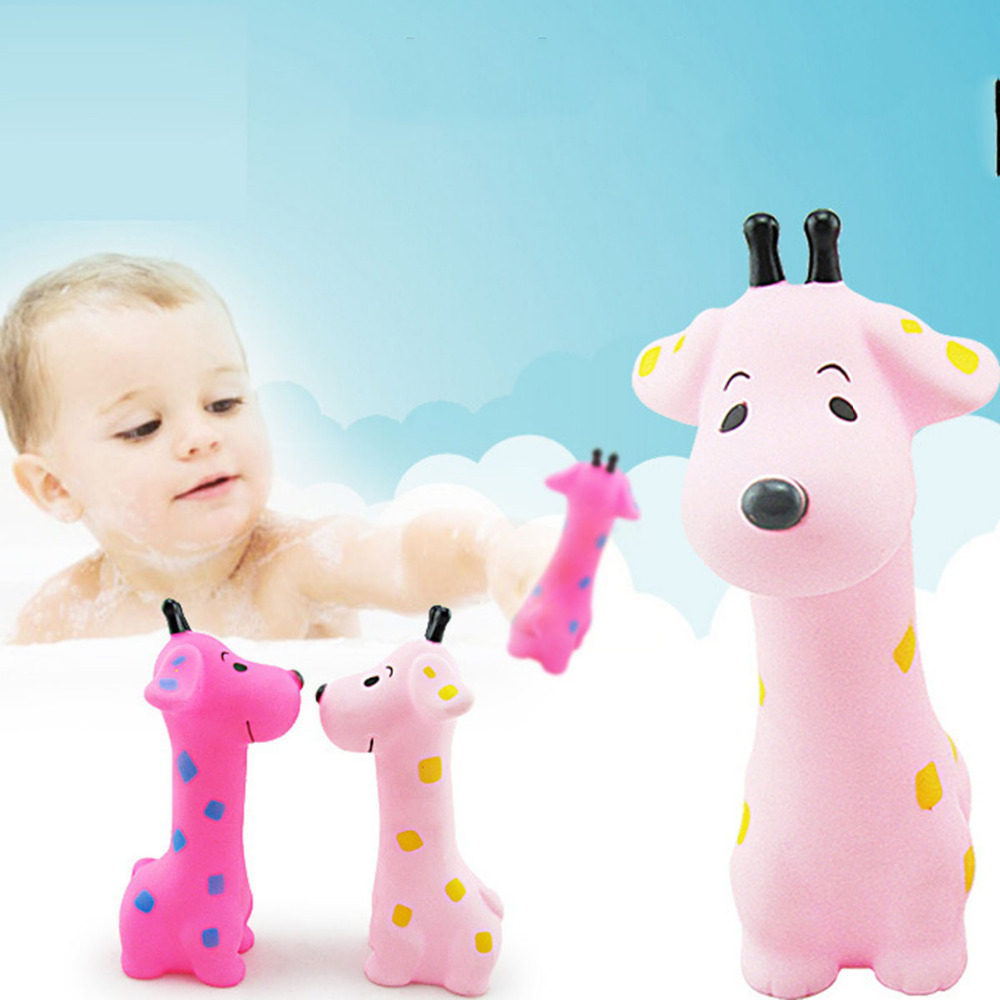 Bath Toy Cartoon Swimming Water Toys Floating Rubber Squeeze Sound Squeaky Bathing Baby Bath Classic Cute Toys Kid Colorful Soft