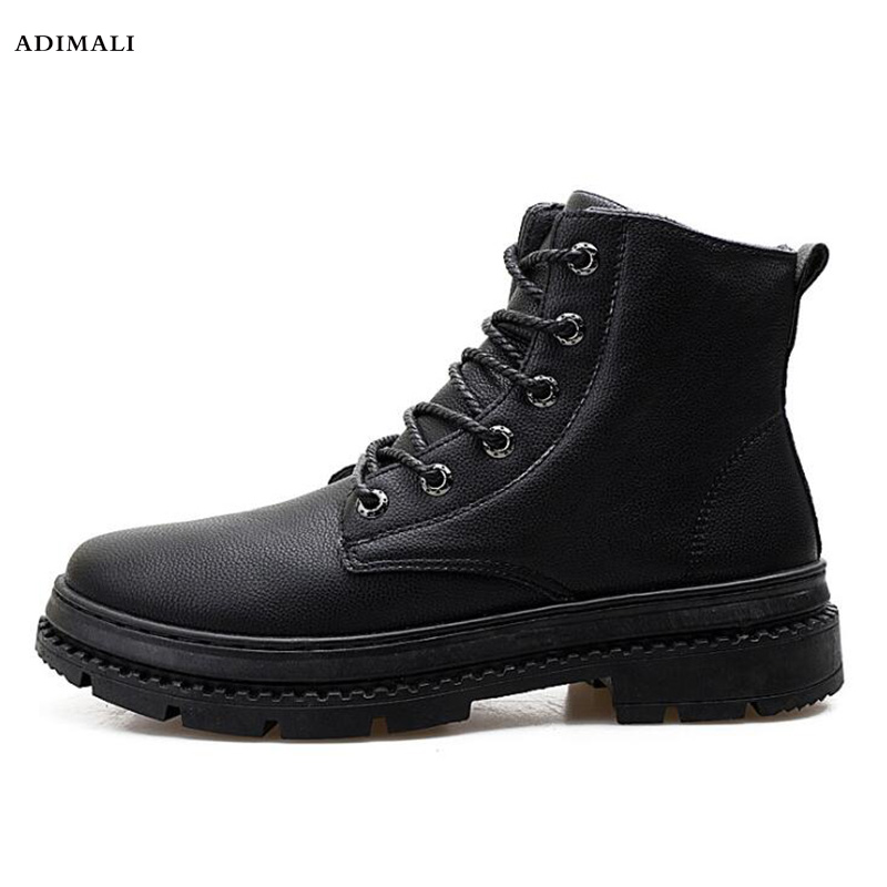 Здесь можно купить  mens winter shoes 2018 Ankle Boots winter Motorcycle Boots male Oxfords Shoes Leather Martin boots men