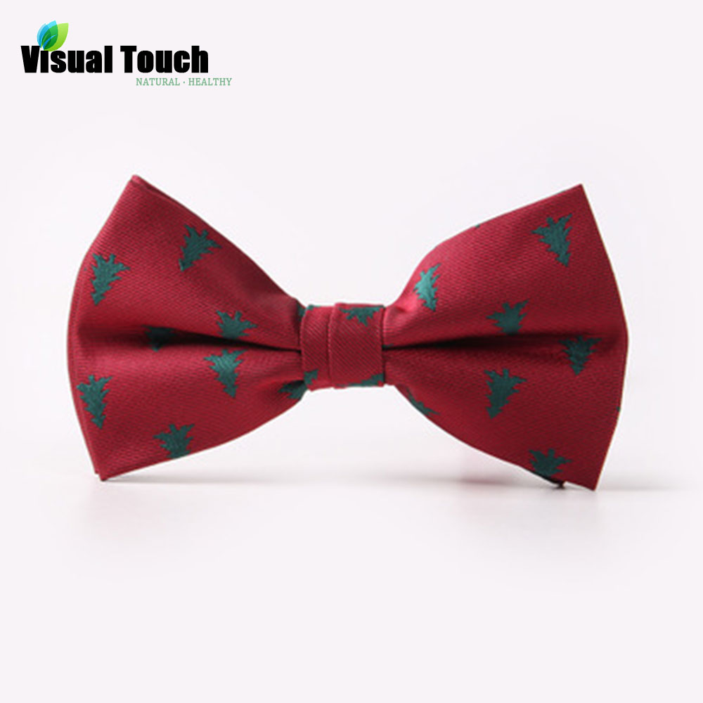 Visual Touch Christmas Bow Tie Men's Fashion Black Bowtie